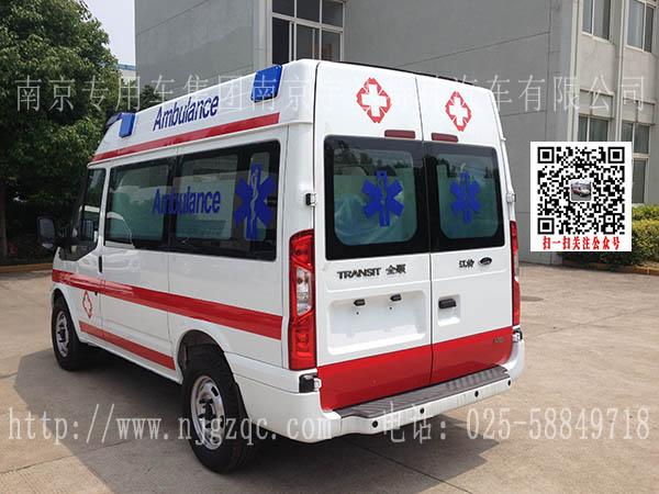 福特全顺新时代v348救护车120急救车短轴